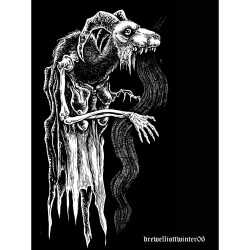 Goat Ghost - Lithograph