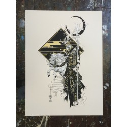 Tombstones - Black Moon Rider (from Red Skies And Dead Eyes) - Screen print